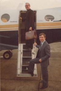 Fr O'Connell and Sir Tom Farmer take Sir Tom's private plane to London to a meeting about Pope JP2's visit