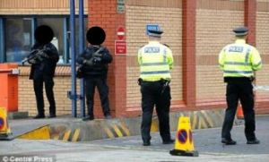 Govan+police+station+Glasgow+Armed+guard