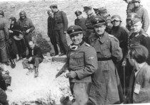 Warsaw, Poland, April 1943 Stroop beside Jews who were forced out of a bunker during the ghetto