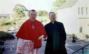 Cardinal Grey and Fr OConnell at St Patrick's (Medium)