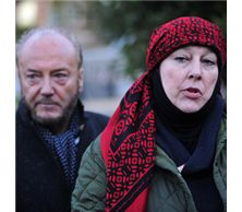 121872-14 George Galloway and Yvonne Ridley rally